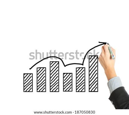 growth chart - stock photo
