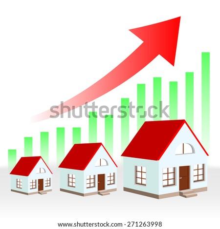 growth chart estate - stock photo