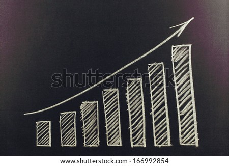 growth chart on the board