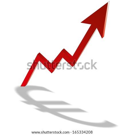 Growth Euro Chart - Stock Image - stock photo