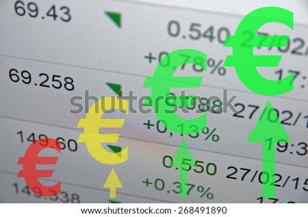 Growth euro concept. - stock photo