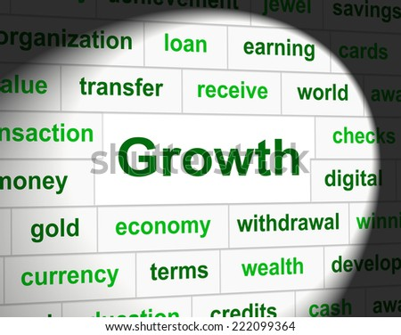 Growth Finances Indicating Accounting Gain And Expansion - stock photo