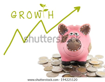 Growth of your money concept - stock photo