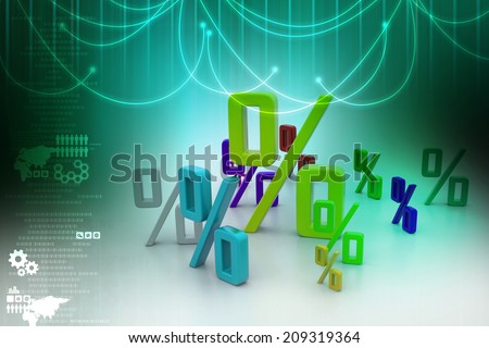 Growth percentage - stock photo
