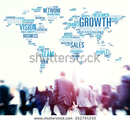 Growth Sales Vision Team Network Idea People Concept - stock photo