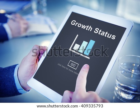 Growth Status Data Development Business Concept