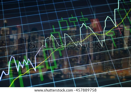 Growth Stock Market chart. Financial background, growth concept.
