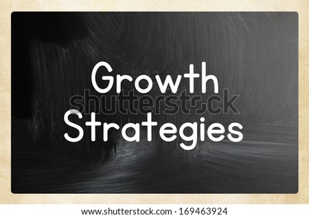 growth strategies concept - stock photo
