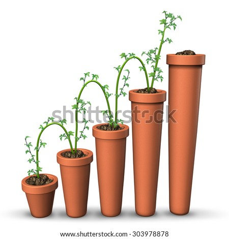 Increment stock photos royalty free images vectors shutterstock - Successful flower growing business ...
