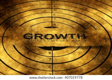 Growth target grunge concept - stock photo
