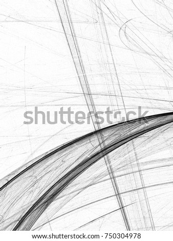 Grunge abstract black background on white backdrop. Two colors. Rectangular vertical shape. Average rough noise design.