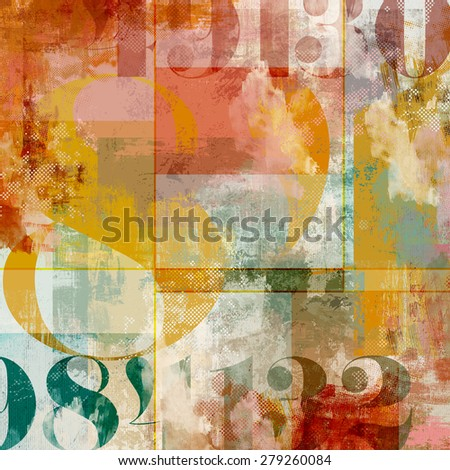 Grunge Abstract Composition Collage - stock photo