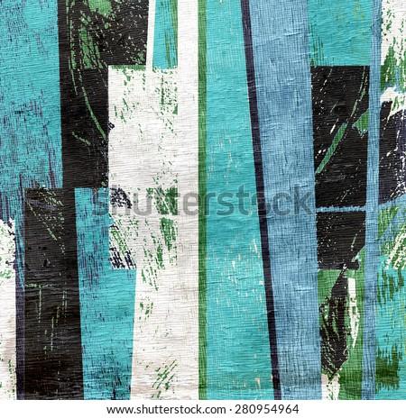grunge abstract design on wood grain texture - stock photo
