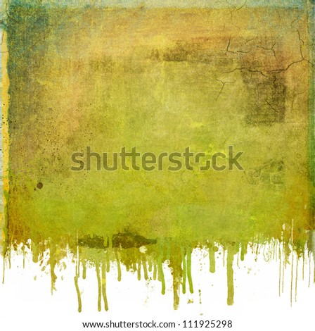 Grunge abstract dripping background - stock photo