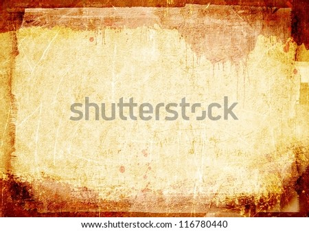 Grunge abstract texture or background with borders - stock photo