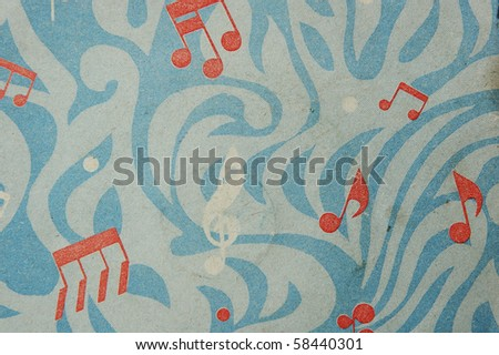grunge aged musical background