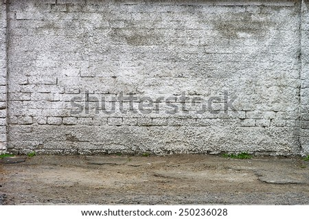 Grunge aged texture street urban background old brick wall screensaver model shooting