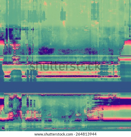 Grunge aging texture, art background. With different color patterns: green; cyan; blue; pink - stock photo