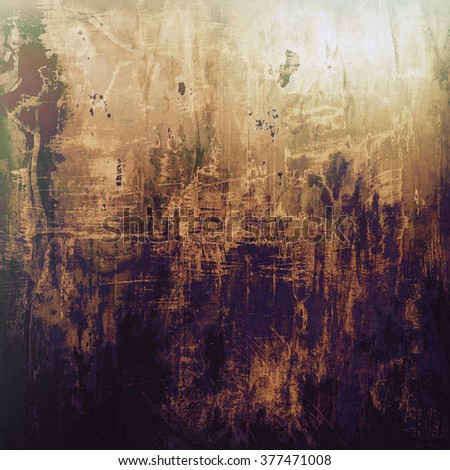 Grunge aging texture, art background. With different color patterns: yellow (beige); brown; gray; black; purple (violet) - stock photo