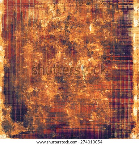 Grunge aging texture, art background. With different color patterns: yellow (beige); brown; purple (violet); red (orange) - stock photo