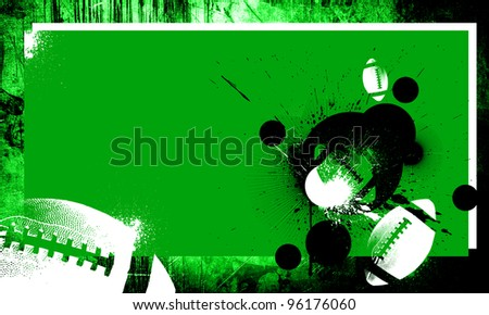 Grunge american football background with space (poster, web, leaflet, magazine) - stock photo