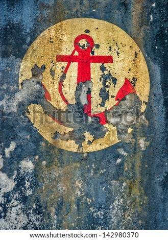 grunge anchor texture abstract background - stock photo