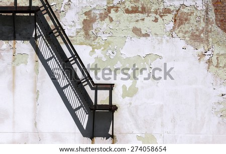 Grunge architecture detail of an old abandoned factory - stock photo