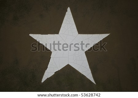 Grunge Army Star - stock photo