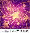 Grunge artistic stars background - stock photo