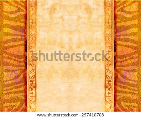 Grunge background - african traditional patterns - stock photo