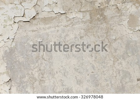 grunge background, flaking paint on plastered wall texture background - stock photo