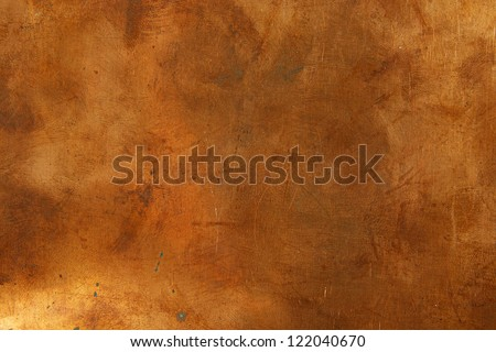 Grunge background from sheet metal of bronze - stock photo
