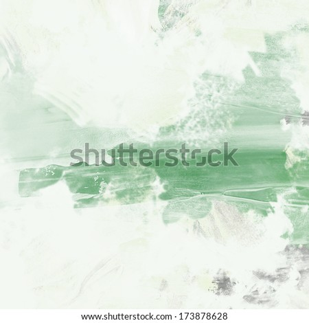 grunge background green painted wall texture - stock photo
