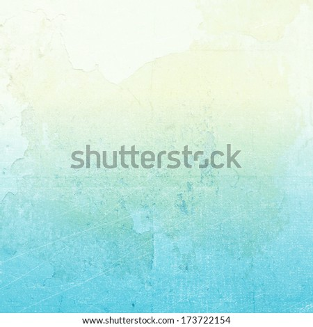 Grunge background in blue color, abstract color background - stock photo