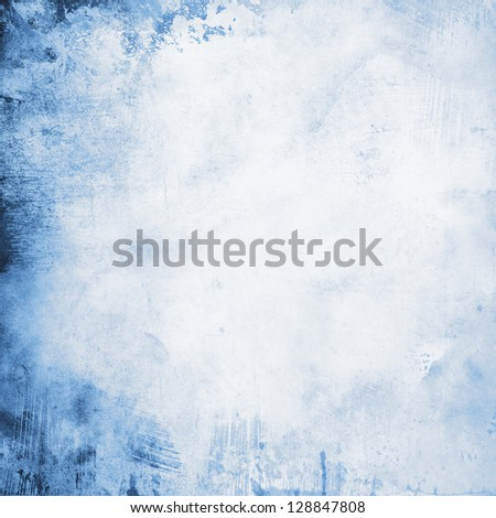 grunge background in blue tones - stock photo
