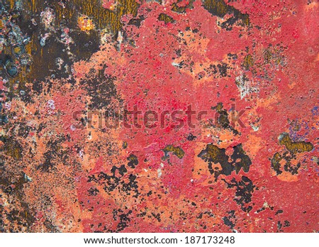 Grunge background in red and rusty colorful texture - stock photo