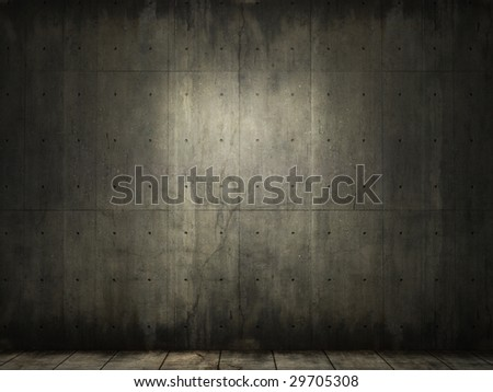 grunge background of an interior concrete room