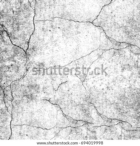 Grunge background of black and white  Abstract texture of cracks  stains   breaks. Distressed Overlay Texture Cracked Concrete Stone Stock Vector