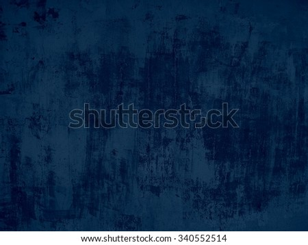 Grunge background of dark blue concrete wall with scratches - stock photo