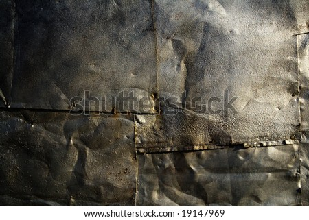 Grunge background of old metal - stock photo