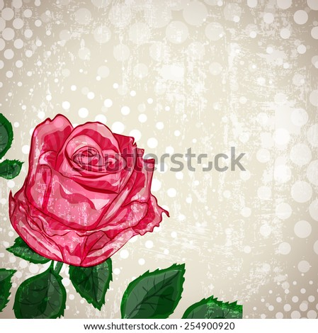Grunge Background of Vintage Abstract Rose Flower  - stock photo