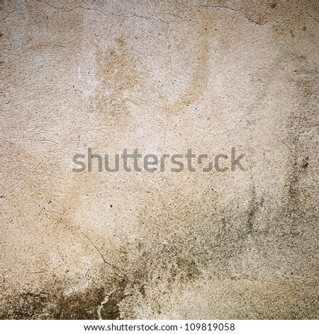grunge background, old plaster wall - stock photo