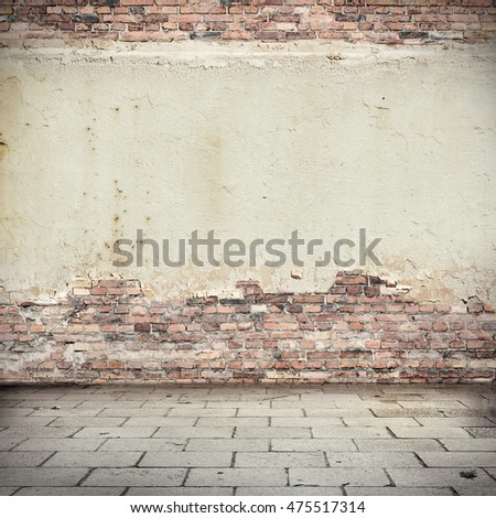 Brick wall texture black white sidewalk stock photo for Exterior background