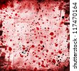 grunge background with abstract paint stains - stock photo