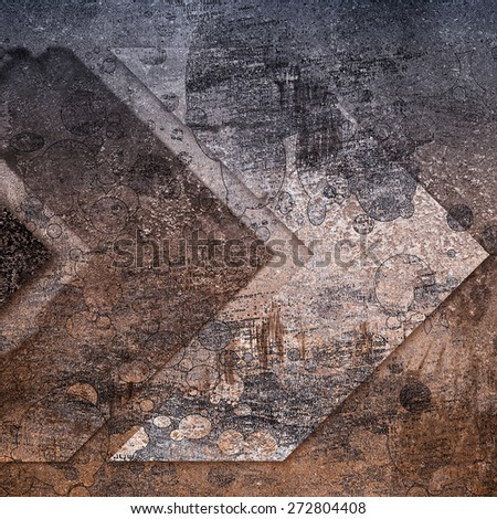 grunge  background with arrows - stock photo