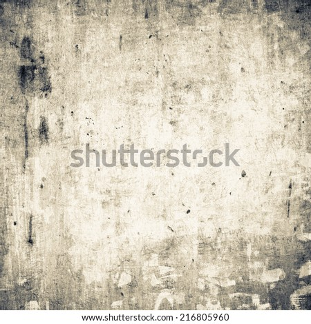 Grunge background with dirty stain on canvas texture - stock photo