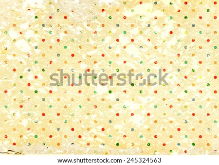 Grunge background with dots pattern and paper texture