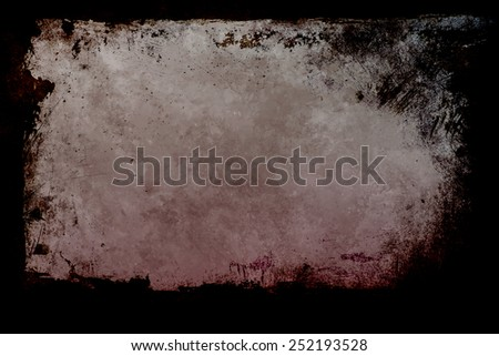 grunge background with frame  - stock photo