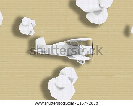 Grunge background with green polygon 3d plane - stock photo