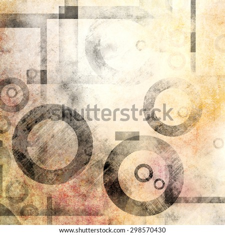Grunge background with grey circles - stock photo